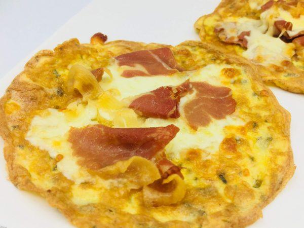 keto omelet van parmezaanse kaas