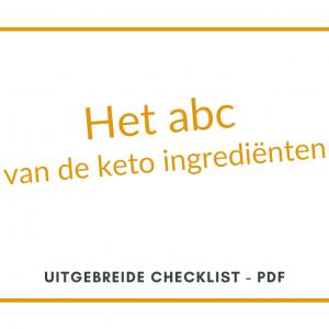 checklist keto ingrediënten