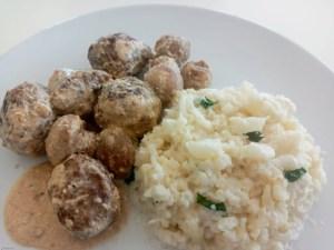 keto gehaktballen met champignons